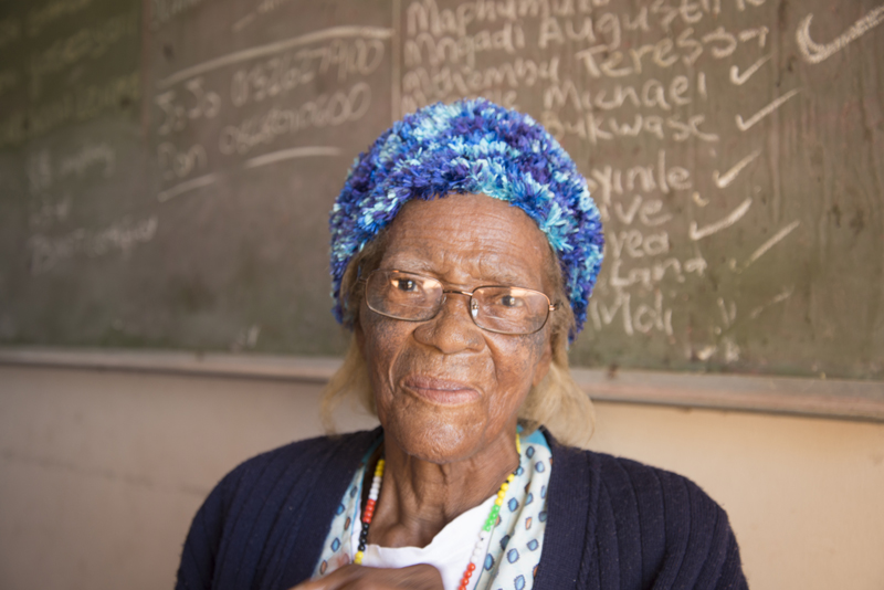 Effi Sangweni, 83, at Muthande Society For the Aged, at the Richmond Centre, in Durban, April 25, 2016. PHOTO: EVA-LOTTA JANSSON